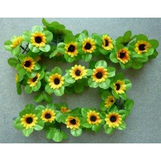 Sonnenblumen  Girlanden gelb ca. 120 cm lang