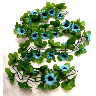 Sonnenblumen  Girlanden blau ca. 120 cm lang