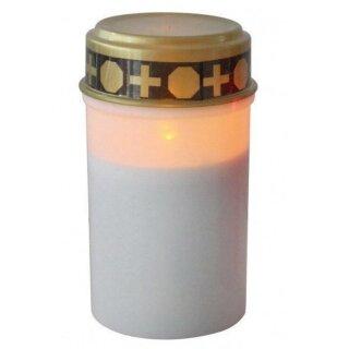 LED Grablicht weiss mit Flackereffekt