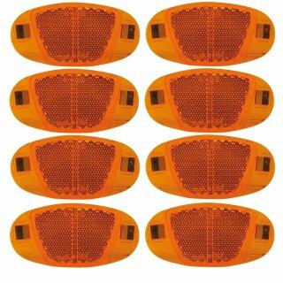 Speichenreflektoren gelb ( orange ) 2 Satz = 8 Stück