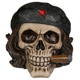 Spardose Totenkopf Freiheitskämpfer mit Zigarre