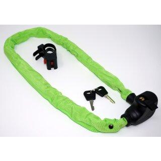 Kettenschloss grün 100 cm mit Schlüssel und Halterung