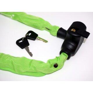 Kettenschloss 100 cm mit Schlüssel und Halterung grün