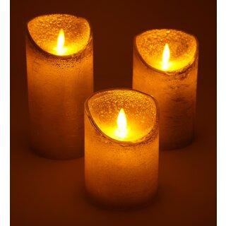 3er Set LED Kerzen kupfer mit Fernbedienung