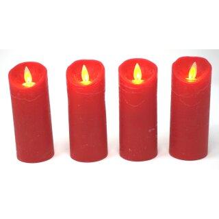 4er SetLED Kerzen rot mit Fernbedienung