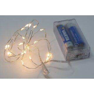 10x Lichterkette Drahtlichterkette Innen 20 Micro LED 100 cm  Basteln + Dekoriere