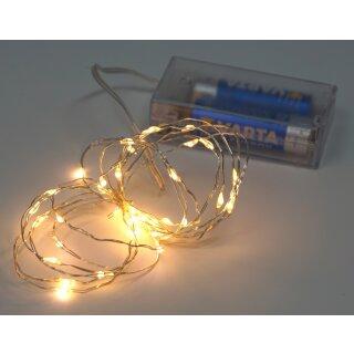 5x Lichterkette mit 20 Micro LED warmweiß 100 cm Timer Batteriebetrieb