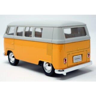 Modellauto VW T1 Bus 1963 mit Rückziehmotor gelb / beige