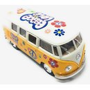 Modellauto VW T1 Bus Peace and Love 1962 gelb / beige...