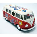 Modellauto VW T1 Bus Peace and Love 1962 rot / beige...