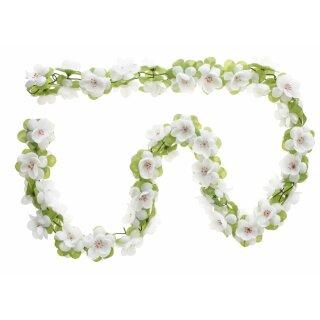 Blumengirlande weiß ca.120 cm lang