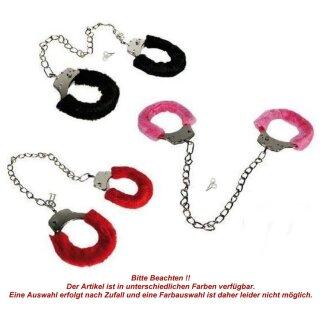 Scherzartikel Fußfessel mit Plüsch Schlüssel Erotik Sex Spielzeug SM Fesseln