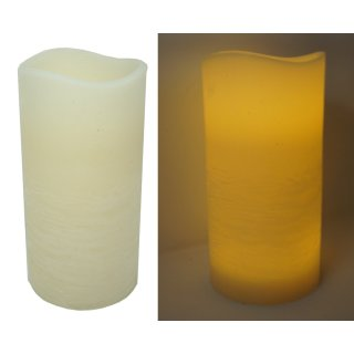 LED echtwachs Kerze Molto ceme Ø 15 cm Höhe 30 cm mit 4/8 Stunden Timer