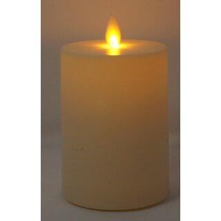 LED Kerze für Außen- und Innenbereich elfenbein mit Timer 8 x 11 cm