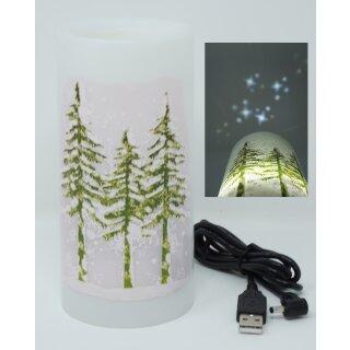 LED Projektions Kerze Sterne Batterie / USB - Decken Projektion