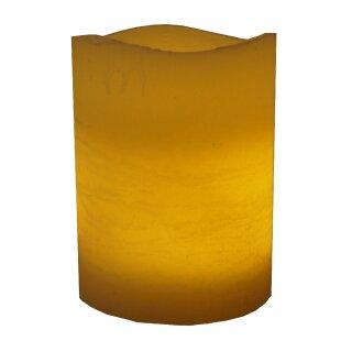 LED echtwachs Kerze Media ceme Ø 10 cm Höhe 20 cm mit 4/8 Stunden Timer