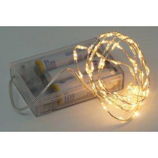 5x Lichterkette mit 66 Micro LED warmweiß 100 cm Timer Batteriebetrieb