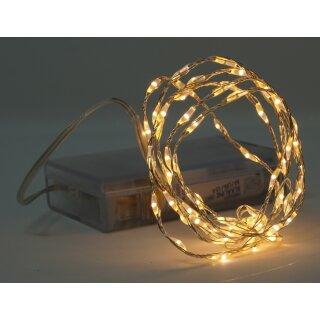 10x Lichterkette mit 66 Micro LED warmweiß 100 cm Timer Batteriebetrieb