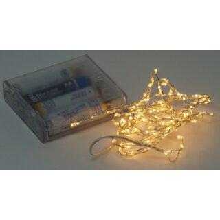 10x Lichterkette mit 132 Micro LED warmweiß 200 cm Timer Batteriebetrieb