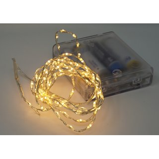 10x Lichterkette mit 132 Micro LED warmweiß 200 cm Timer Batteriebetrieb