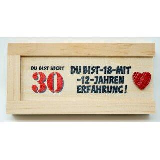 Geldgeschenkbox mit Schiebedeckel aus Holz Geld Geschenkverpackung 30 Gebutstag