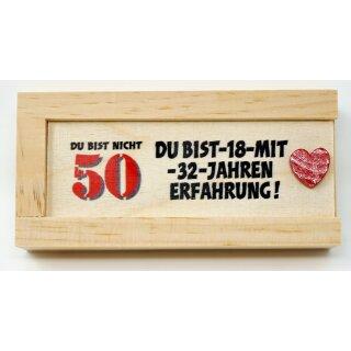 Geldgeschenkbox mit Schiebedeckel aus Holz Geld Geschenkverpackung 50 Gebutstag