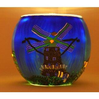 Leuchtglas Windmühle und Leuchtturm