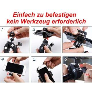 CBK-MS®  Universal Handyhalterung Fahrrad, E-Bike, E-Roller, Motorrad oder Kinderwagen