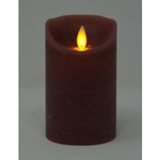LED Stumpenkerze 12,5 cm ANTIC ROSA  mit Timer