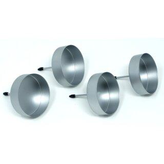 4 Kerzenhalter ohne Dorn für LED Kerzen bis 5 cm Durchmesser