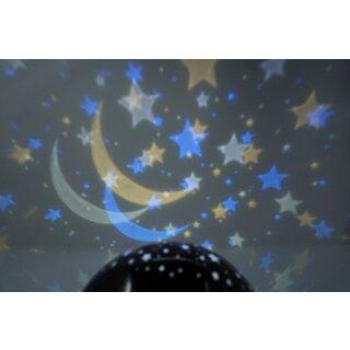 LED Projektions Lampe Sternenhimmel mit farbiger rotierender Decken Projektion