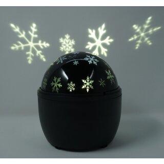 LED Projektions Lampe Schneeflocken mit rotierender Decken Projektion