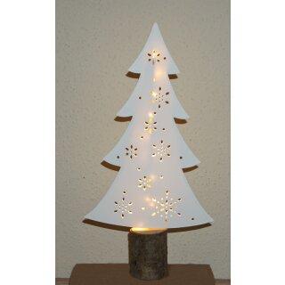 Tannenbaum Weihnachtsbaum 40 cm Papier und Holz mit LED Beleuchtung