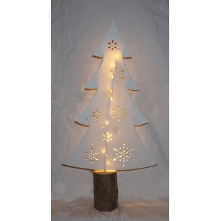 Tannenbaum Weihnachtsbaum 50 cm Papier und Holz mit LED Beleuchtung