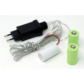 Netzadapter Batterieadapter 4,5V als Batterieersatz für 3 C Batterien