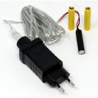 Netzteil Batterie Adapter 4,5V als Batterieersatz für 3 AAA Batterien