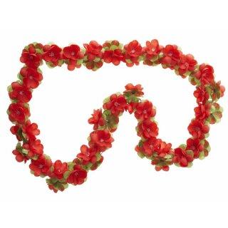 Blumengirlande rot ca.120 cm lang